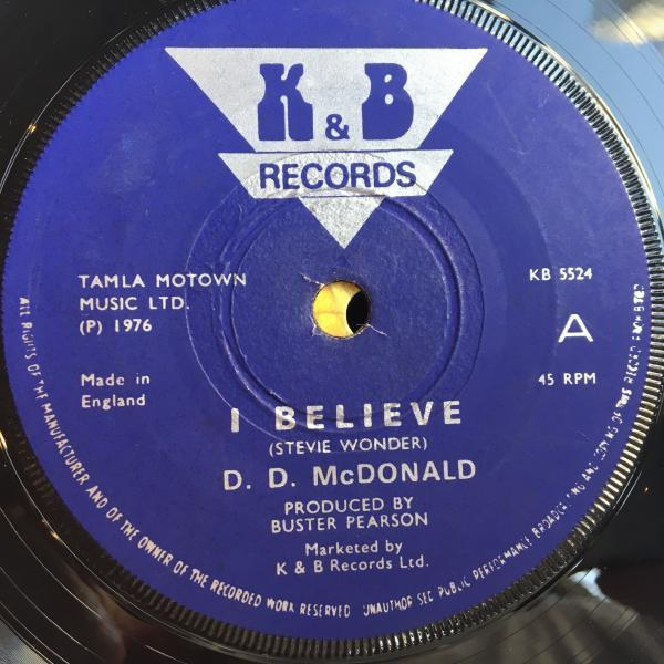 ★D.D. McDonald/I Believe★レア初期LOVERS隠れ名作!