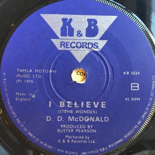 ★D.D. McDonald/I Believe★レア初期LOVERS隠れ名作!_画像2