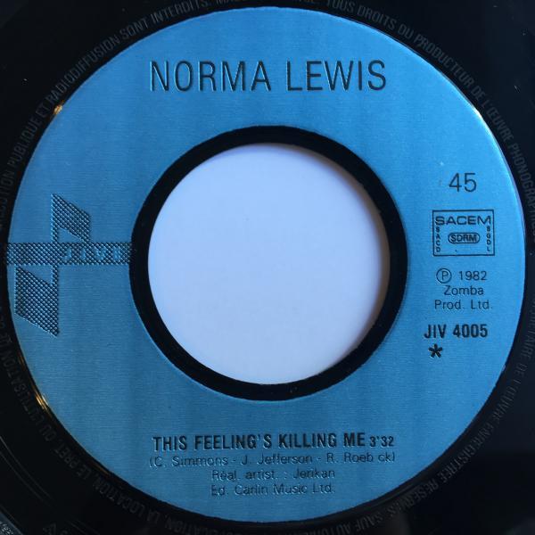 ★Norma Lewis/This Feelings Killing Me★人気カバーLOVERS!レア7インチ!_画像2