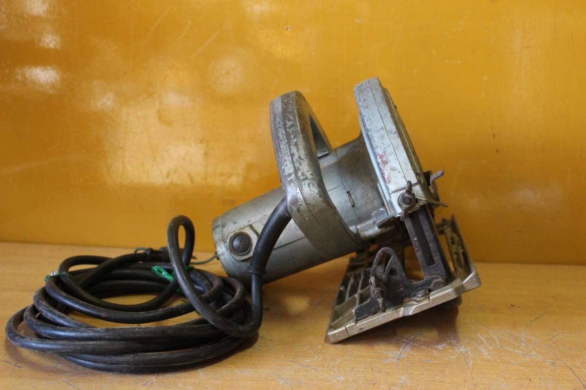 新★ ま-258 造作丸のこ ブレーキ付 C7B1 通電OK 1986年 カーボンブラシ交換要 185mm 寸法:高さ23cm 幅21cm 奥行28cm 重さ5kg_画像7