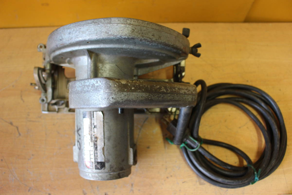 新★ ま-258 造作丸のこ ブレーキ付 C7B1 通電OK 1986年 カーボンブラシ交換要 185mm 寸法:高さ23cm 幅21cm 奥行28cm 重さ5kg_画像8