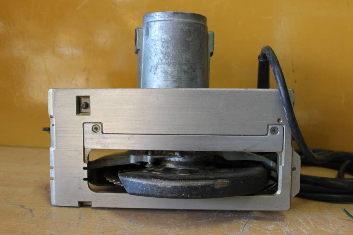 新★ ま-258 造作丸のこ ブレーキ付 C7B1 通電OK 1986年 カーボンブラシ交換要 185mm 寸法:高さ23cm 幅21cm 奥行28cm 重さ5kg_画像9
