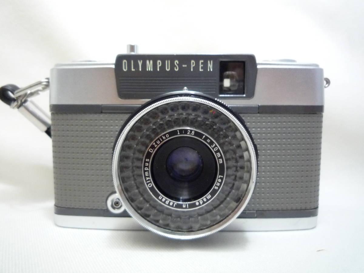 ビンテージ 昔のフィルムカメラ オリンパス Pen EES-2 箱・ケース・説明書あり ジャンク品_画像2