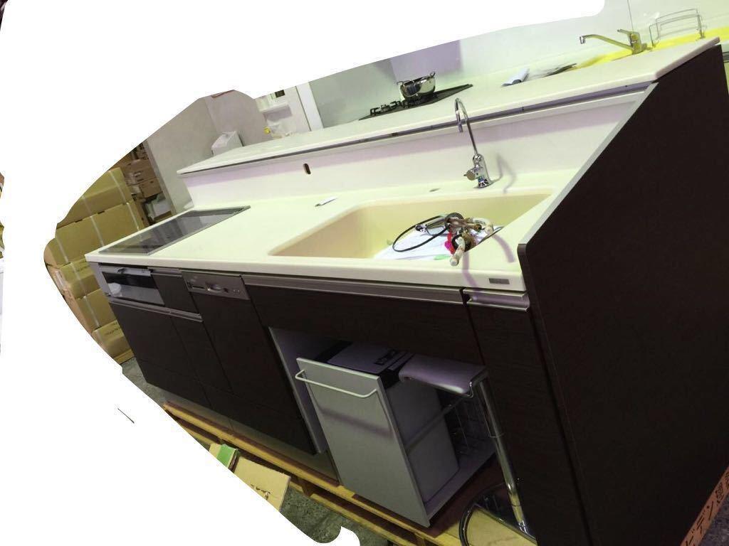 入札前に現品確認可  超高級品システムキッチン 流し台まですべて人工大理石 元値は三百万近いの物です_画像3