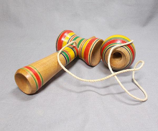 昭和レトロ【古いけん玉 木製】木工 玩具 古民具 _画像3