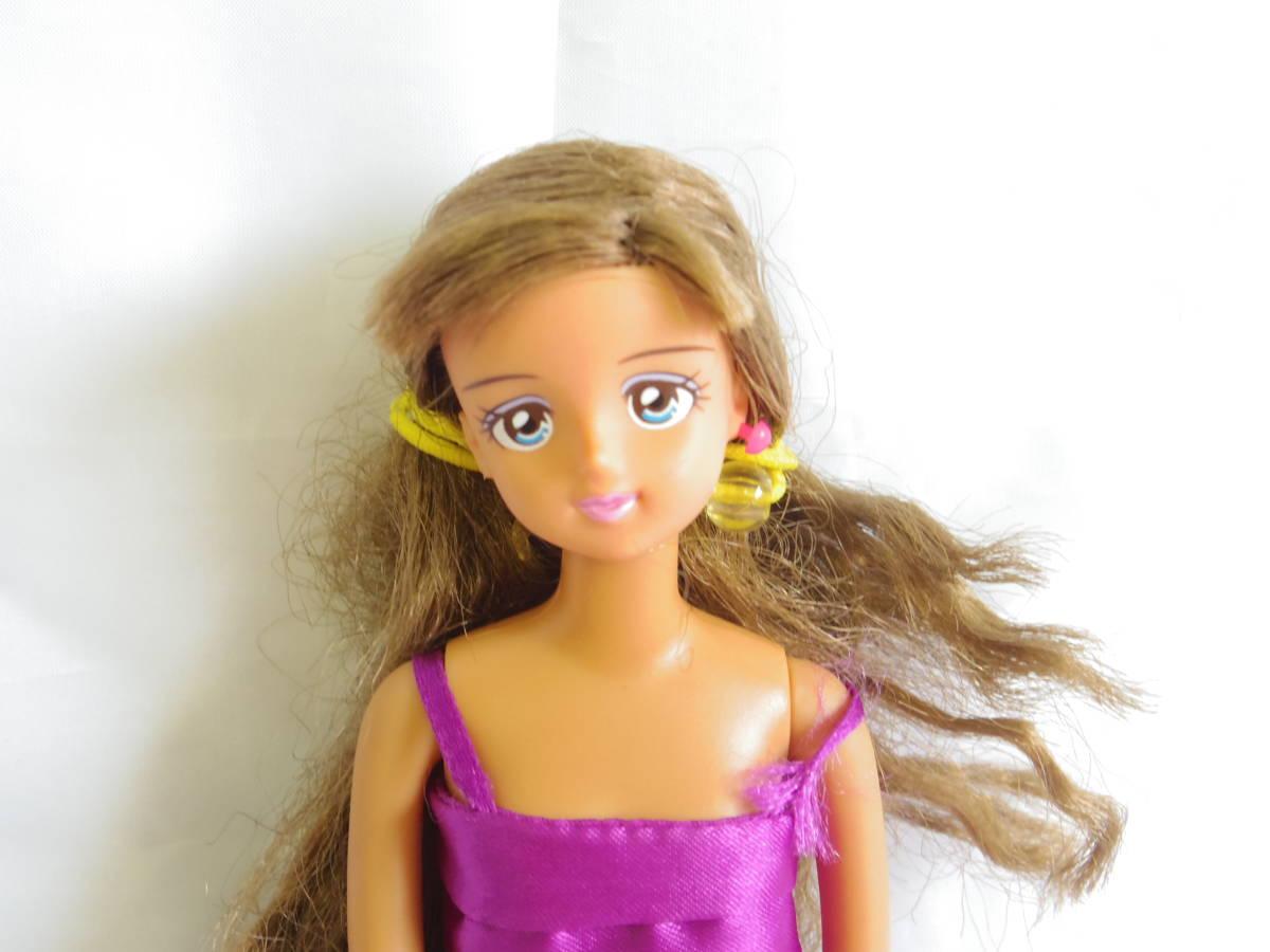 ★TAKARA タカラ★ジェニーちゃん★エンジェルズガーデン 日焼け肌 紫 ドレス 人形 フィギュア ドール★約27㎝_画像2