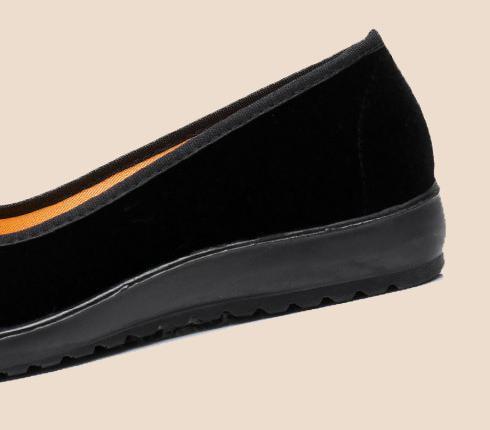 【新品】23cm パンプス コンフォート カンフー フラットシューズ べた靴 黒 ブラック 柔らかい 素材 軽量 歩きやすい_画像8