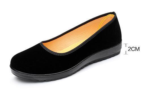 【新品】23cm パンプス コンフォート カンフー フラットシューズ べた靴 黒 ブラック 柔らかい 素材 軽量 歩きやすい_画像3
