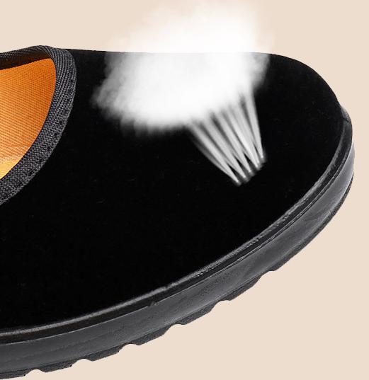 【新品】23cm パンプス コンフォート カンフー フラットシューズ べた靴 黒 ブラック 柔らかい 素材 軽量 歩きやすい_画像6