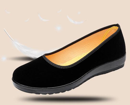 【新品】23cm パンプス コンフォート カンフー フラットシューズ べた靴 黒 ブラック 柔らかい 素材 軽量 歩きやすい_画像7
