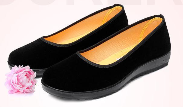 【新品】23cm パンプス コンフォート カンフー フラットシューズ べた靴 黒 ブラック 柔らかい 素材 軽量 歩きやすい_画像2