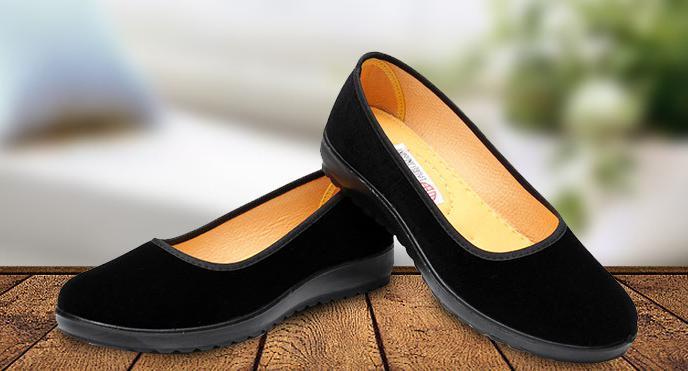 【新品】23cm パンプス コンフォート カンフー フラットシューズ べた靴 黒 ブラック 柔らかい 素材 軽量 歩きやすい_画像1