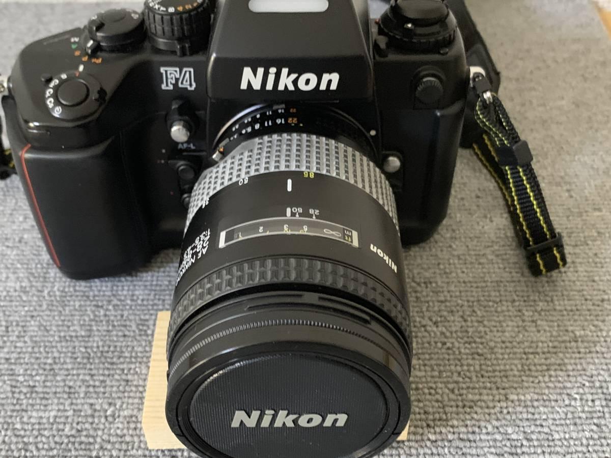 お買い得!一眼レフ・マニアの方 防湿庫保管・超美品 NIKON F-4 (AF NIKKOR 28-85mm 1.35-4.5) 画像のものが全てです_画像3