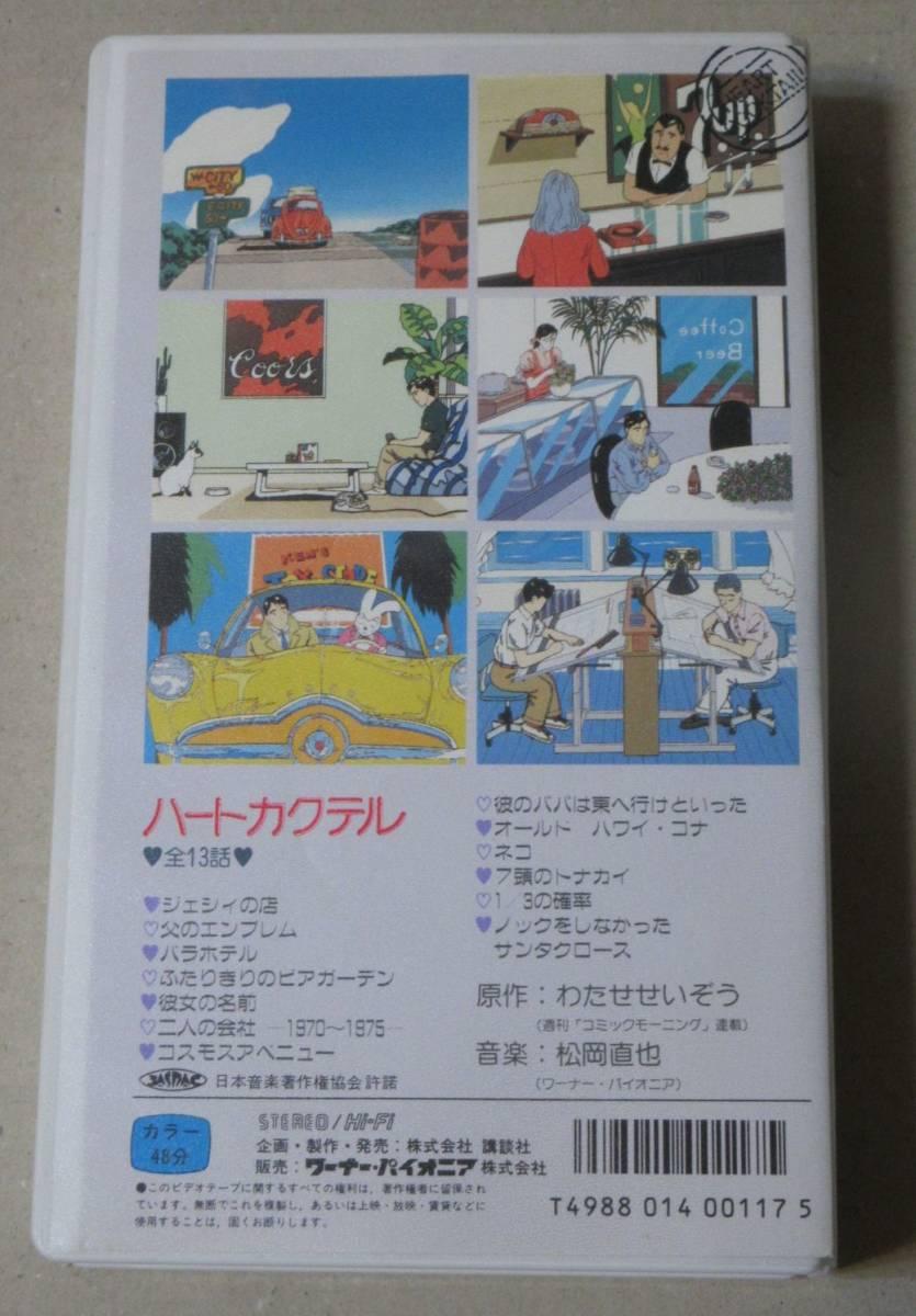 希少セル版VHS/ハートカクテルVol.1 わたせせいぞう/松岡直也_画像2