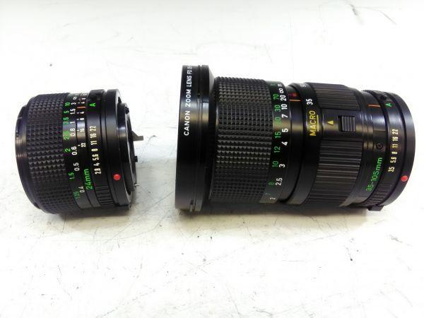R1002-69/SA5000 フィルムカメラ Canon キャノン A-1 レンズ FD 24mm 1:2.8 35-105mm 1:3.5 スピードライト 177A ケース 説明書付_画像6