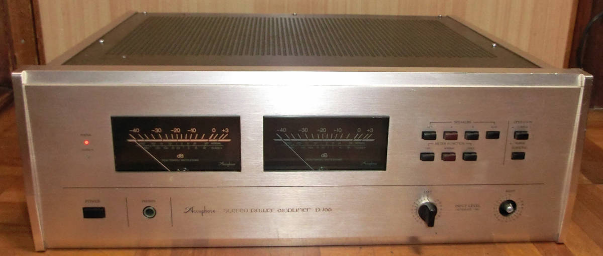 Accuphase P-266 パワーアンプ MOS-FET A級30W/B級130W ジャンク