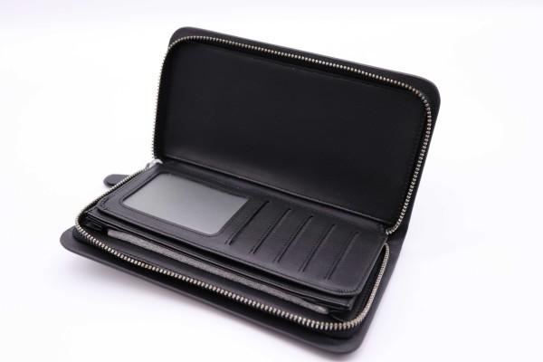 写真多数100~sale激レア新品 NIKON ニコン NPS レザー ウォレット 財布 ブラック ジッパー