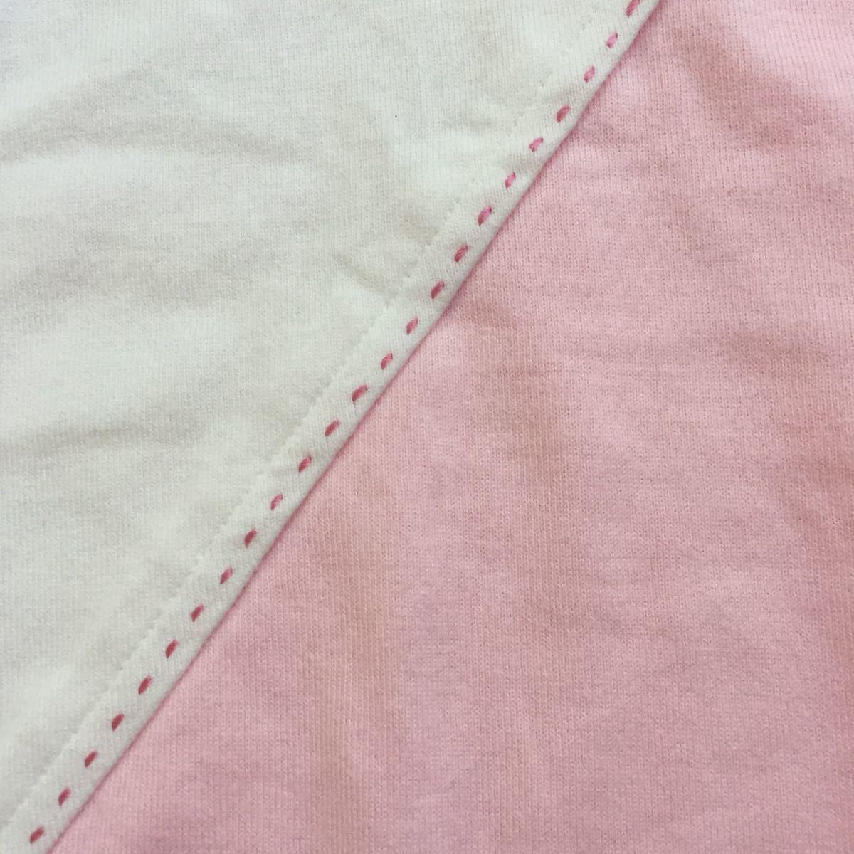 未使用 未着 BURBERRY LONDON バーバリー 綿100 ホース刺繍付き 可愛い長袖Tシャツ サイズ160A オフ白×ピンク 日本製 三陽商会_画像7