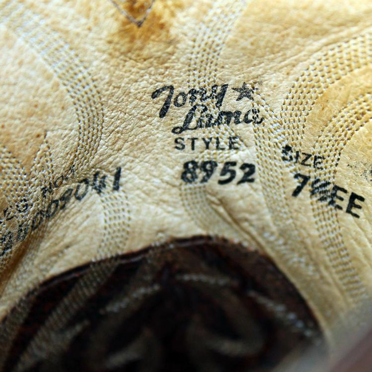 良品・即決★トニーラマ TONY LAMA★ウエスタンブーツ US7.5≒25.5cm レザー バイク バイカー メンズ USA メンズ ブラウン 茶 s-874_画像6
