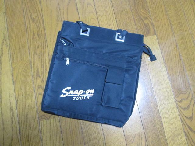 新品未使用 スナップオン SNAP-ON 限定品 トート バッグ バック 肩から掛けられる長さのベルトbag 旧ロゴ_画像2