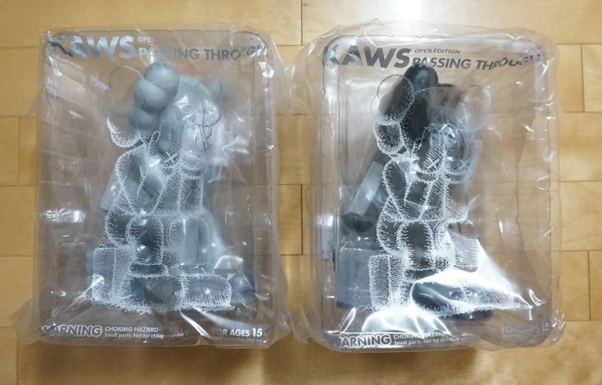 KAWS PASSING THROUGH カウズ 2体セット フィギュア KAWS ONE GREY/BLACK グレー 灰 黒 人体模型 ベアブリック_画像6