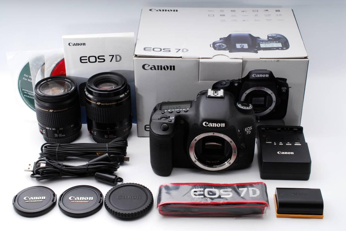 ★極上級★Canon キヤノン EOS 7D 28-200mm ダブルレンズセット 元箱、付属品充実★96