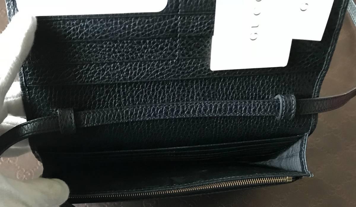 新品GUCCI◆グッチ 長財布 斜め掛け バッグ ショルダーバッグ クラッチ セカンドバッグ 黒 100%正規_画像4