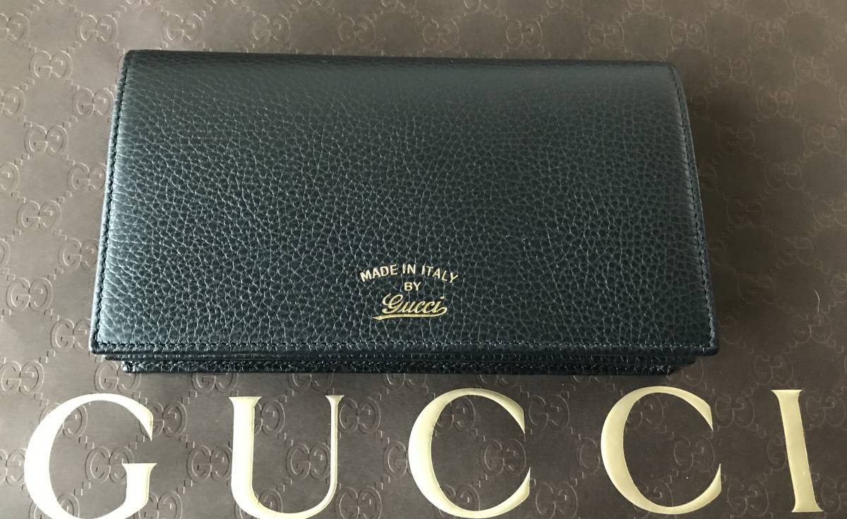 新品GUCCI◆グッチ 長財布 斜め掛け バッグ ショルダーバッグ クラッチ セカンドバッグ 黒 100%正規_画像2