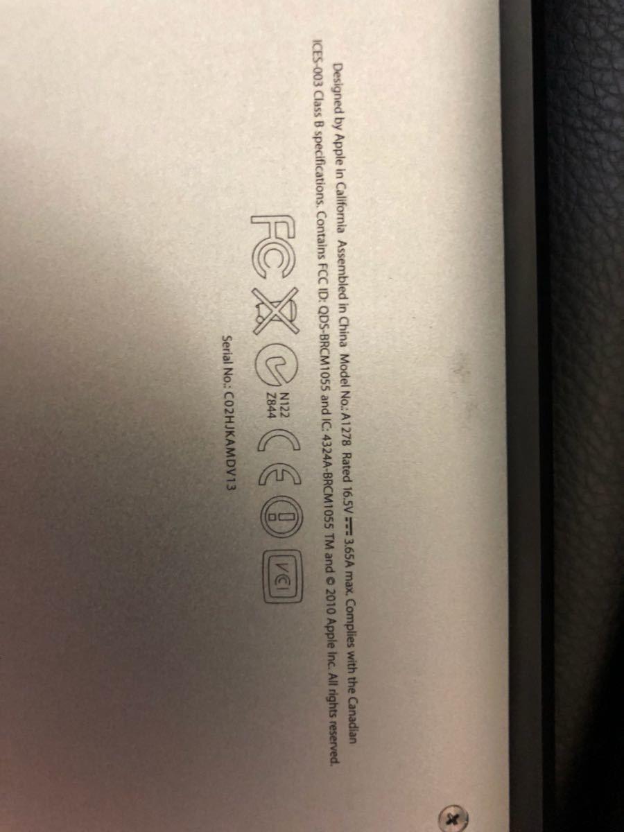 【ジャンク】 MacBook Pro 13インチ Early 2011?_画像4