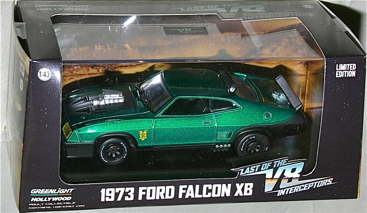 1//64 GREENLIGHT Mad Max V8 Interceptor 73 Ford Falcon XB MOVIE CAR FORD F-350