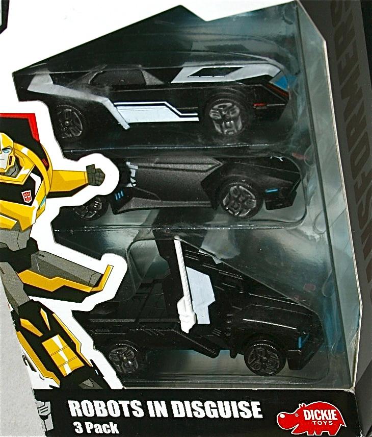 Dickie トランスフォーマーRID 1/64 ミニカー3台SET Robots In Disguise バンブルビー オプティマス プライム サイドスワイプ Stealth_画像2