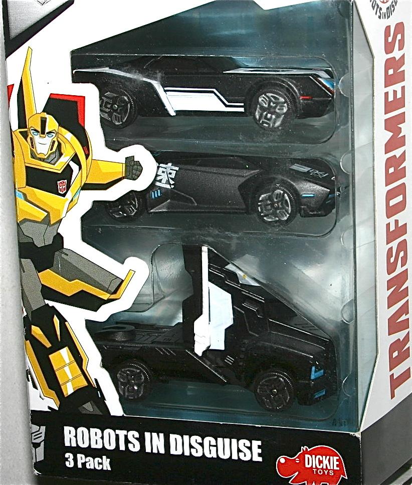 Dickie トランスフォーマーRID 1/64 ミニカー3台SET Robots In Disguise バンブルビー オプティマス プライム サイドスワイプ Stealth_画像3