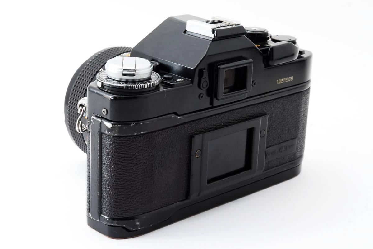 Canon A-1 50mm F1.4 S.S.C. FD キャノン A1 ブラック 一眼レフ フィルム カメラ_画像6