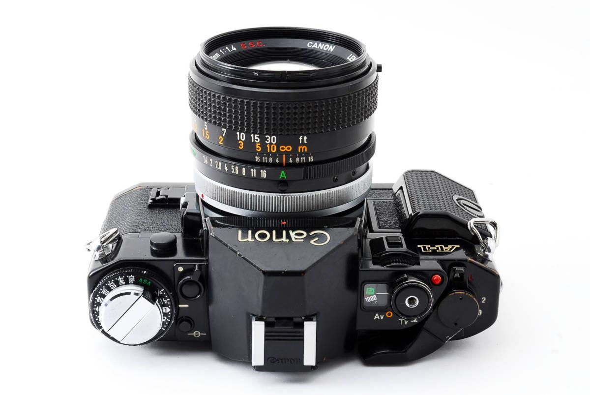 Canon A-1 50mm F1.4 S.S.C. FD キャノン A1 ブラック 一眼レフ フィルム カメラ_画像7