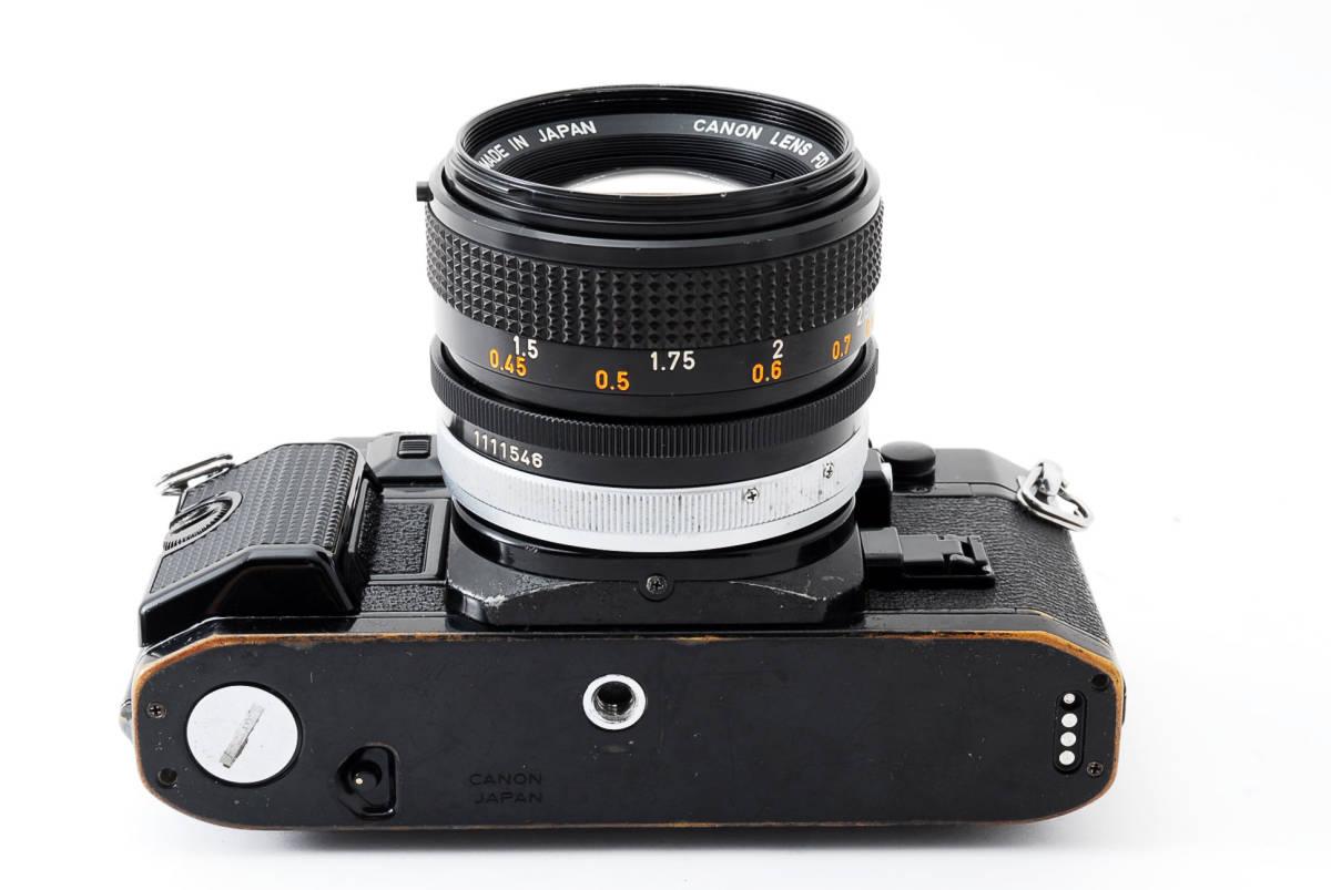 Canon A-1 50mm F1.4 S.S.C. FD キャノン A1 ブラック 一眼レフ フィルム カメラ_画像8