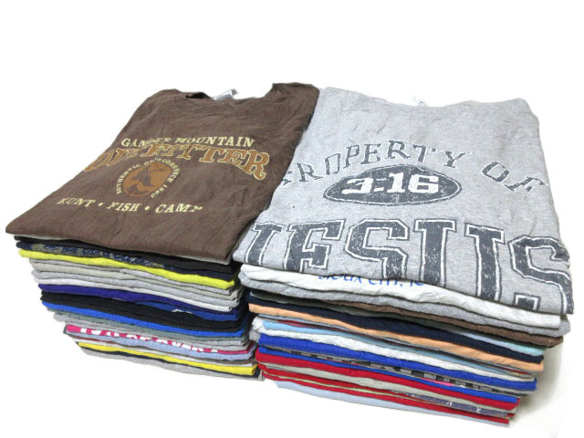 USA old clothes   print T-shirt 50 sheets American Casual