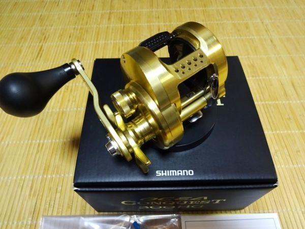 【中古 美品】シマノ 15オシアコンクエスト 300HG 右ハンドル_画像3