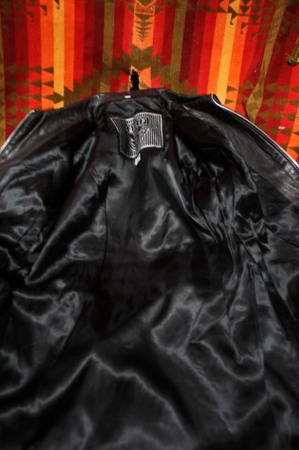 ビンテージ 希少 ミュージシャン 愛用 70s ビンテージ GOSSIP 変型 UK ロンジャン ライダース レザー ■ 666 セディショナリーズ ラロッカ_画像5