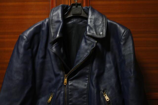 希少 濃紺 70s ビンテージ UK ロンジャン レザー ライダース ジャケット■ 40s 50s ルイスレザー Schott vanson モーターサイクル ラロッカ_色は、この色合いをご参照にして下さい。