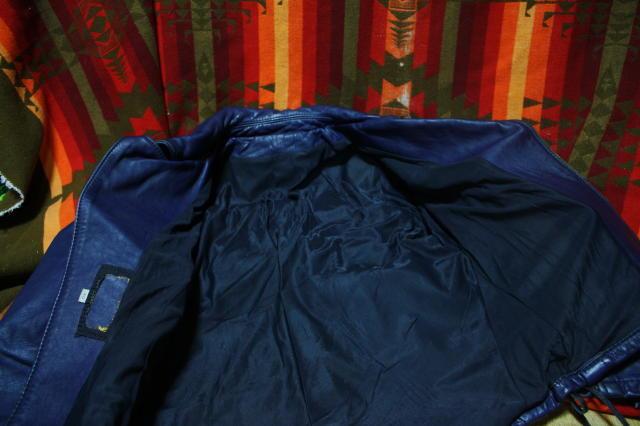 希少 濃紺 70s ビンテージ UK ロンジャン レザー ライダース ジャケット■ 40s 50s ルイスレザー Schott vanson モーターサイクル ラロッカ_画像4