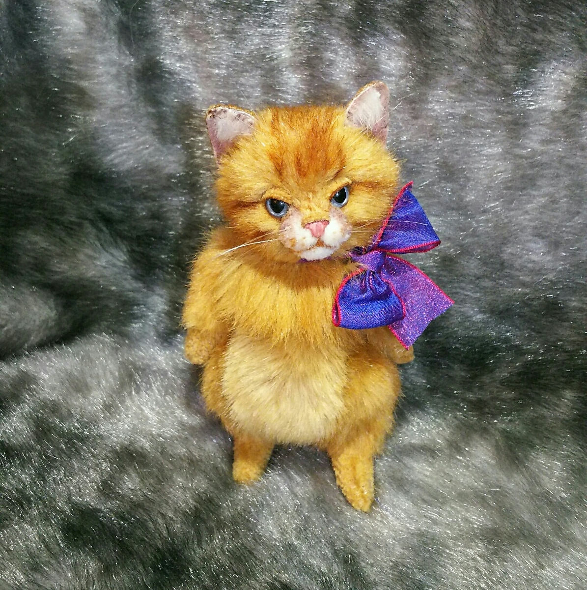 佐藤真也『チビ猫 ロング』ハンドメイド、手づくり、1点物 、新品_画像4