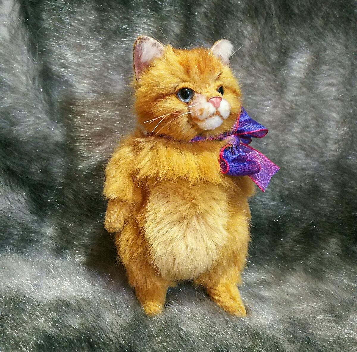 佐藤真也『チビ猫 ロング』ハンドメイド、手づくり、1点物 、新品
