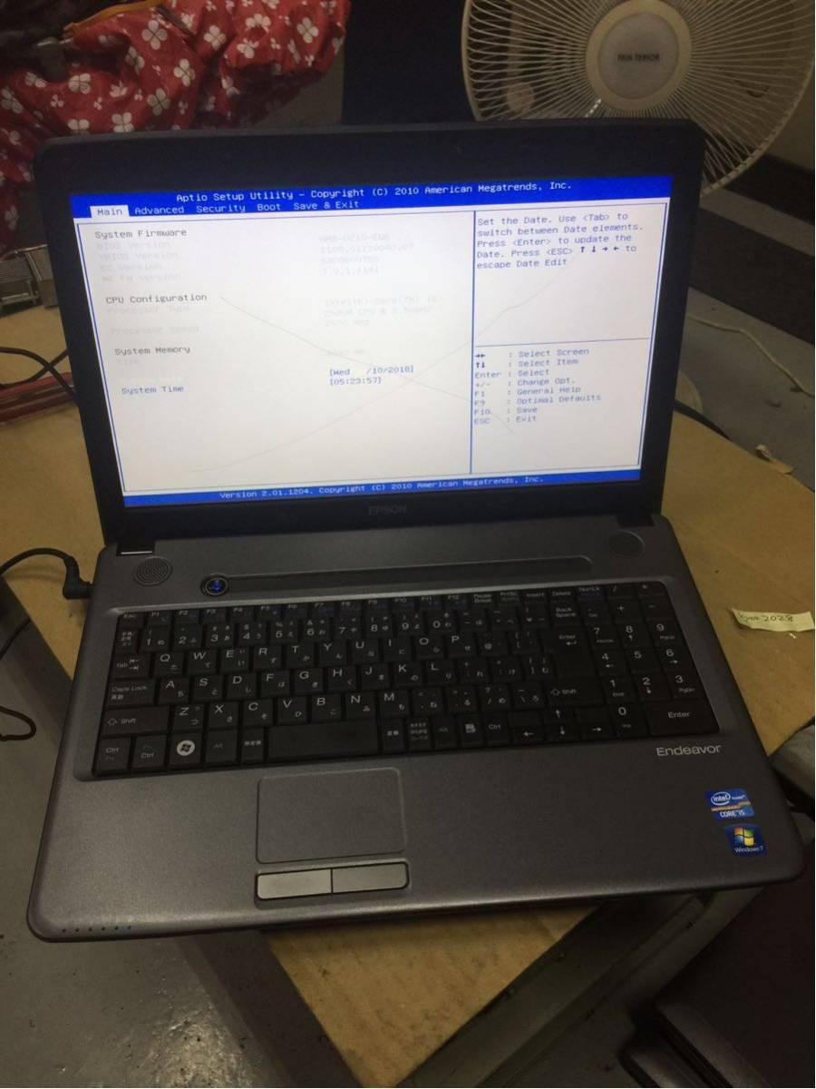 374 エプソン Endeavor NJ5500 i5 2520M メモリなし HDDなし アダプタなし