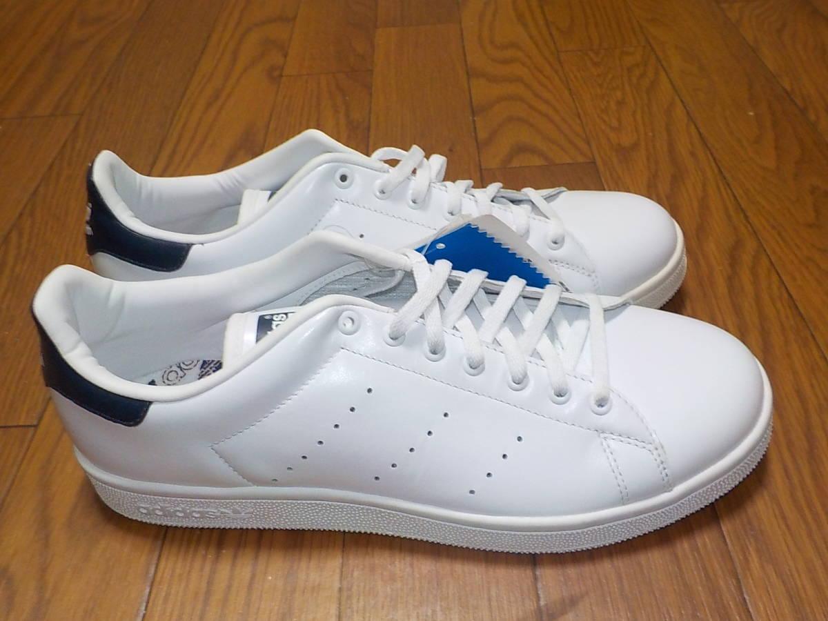 新品・adidas スタンスミス ⅡJ カラー:ホワイト×ネイビー、サイズ:JP 27.0cm