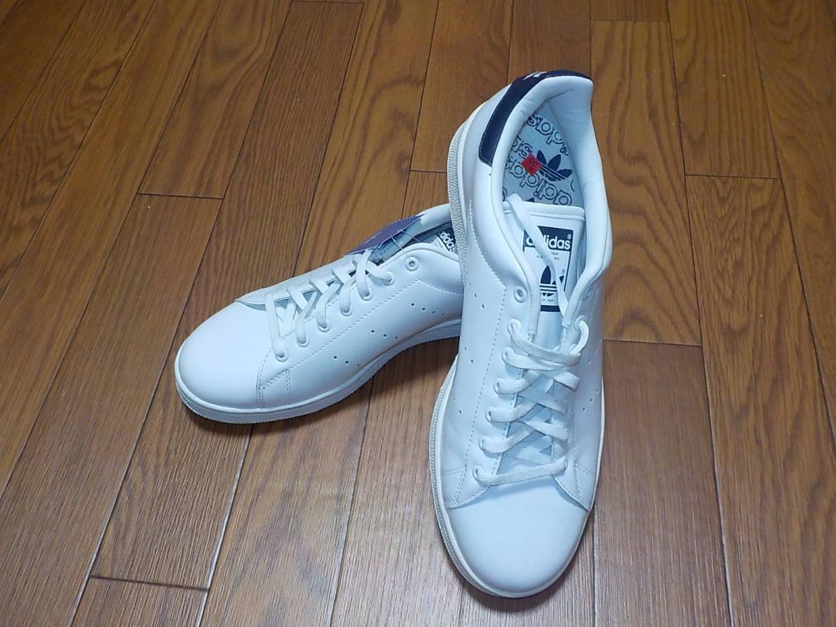 新品・adidas スタンスミス ⅡJ カラー:ホワイト×ネイビー、サイズ:JP 27.0cm_画像2