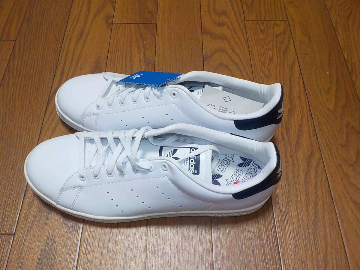 新品・adidas スタンスミス ⅡJ カラー:ホワイト×ネイビー、サイズ:JP 27.0cm_画像3