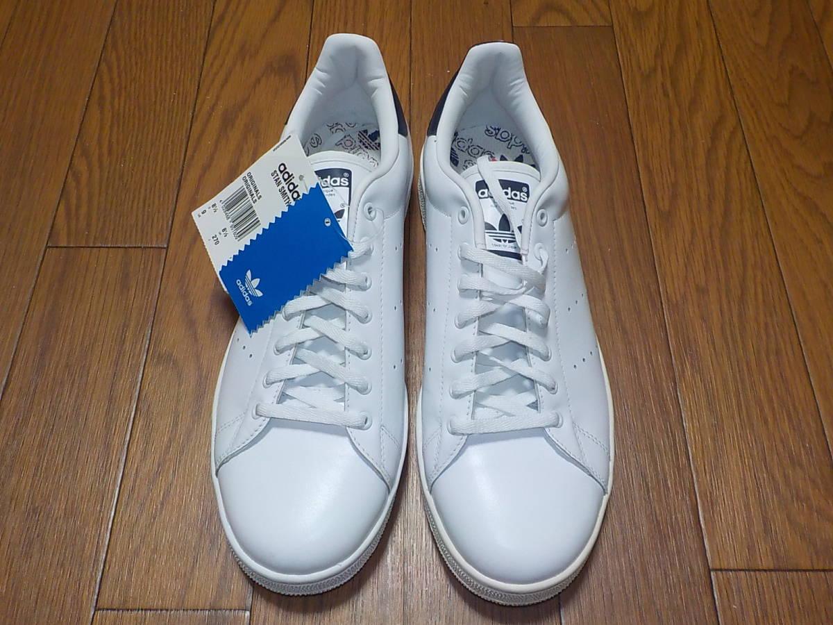 新品・adidas スタンスミス ⅡJ カラー:ホワイト×ネイビー、サイズ:JP 27.0cm_画像4