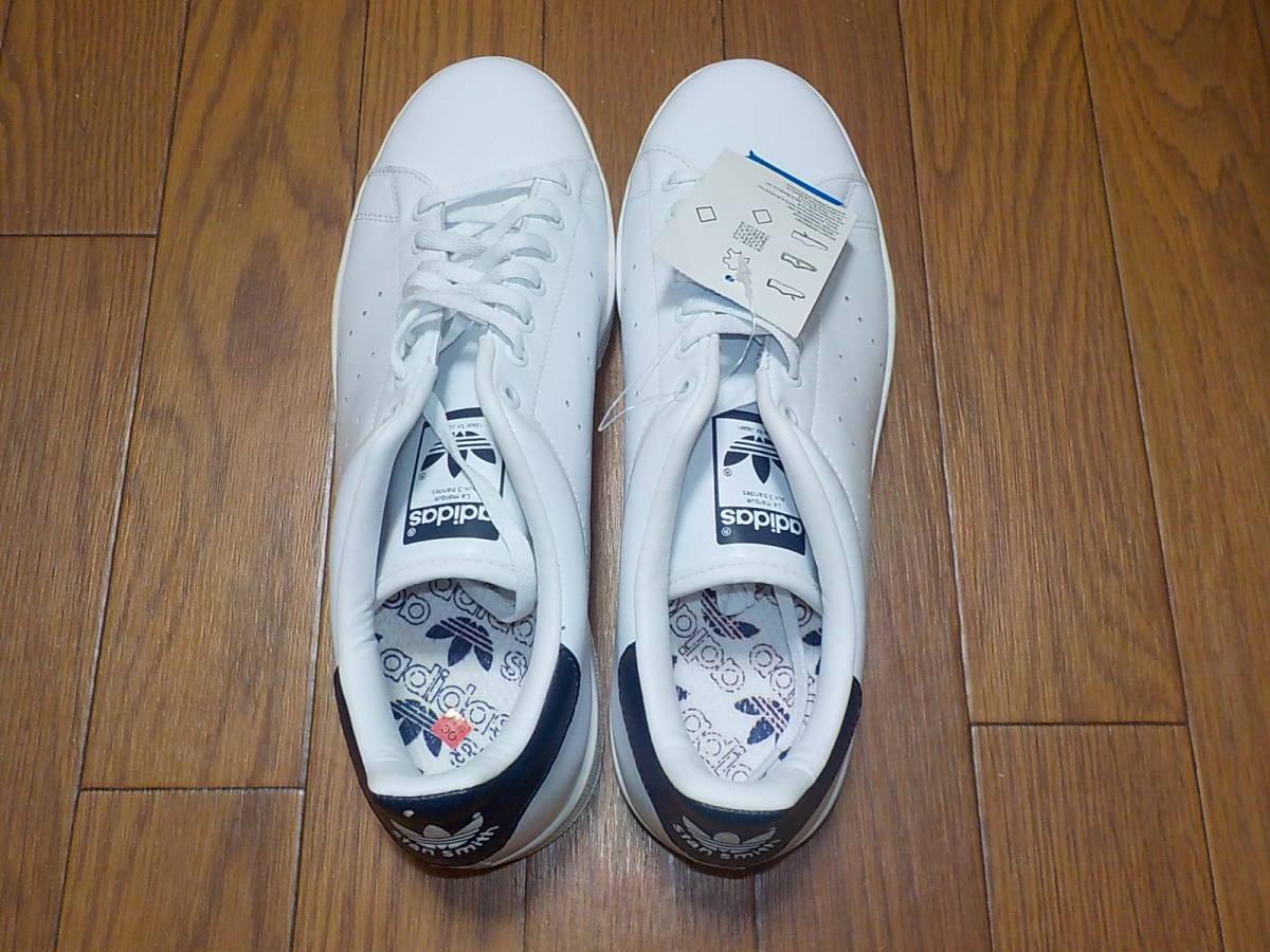 新品・adidas スタンスミス ⅡJ カラー:ホワイト×ネイビー、サイズ:JP 27.0cm_画像5