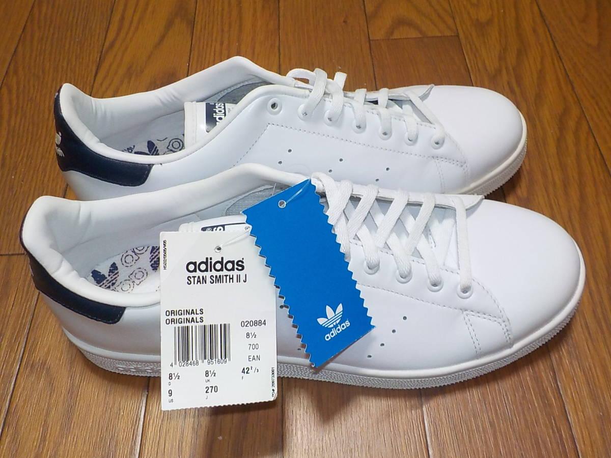 新品・adidas スタンスミス ⅡJ カラー:ホワイト×ネイビー、サイズ:JP 27.0cm_画像6