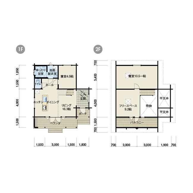 住宅ログハウス◆SAARI◆サーリ92◆51.3帖◆3LDK◆ファミリーにオススメのモデル_画像2